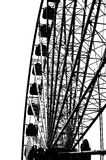Силуэт колеса Ferris Стоковое Изображение