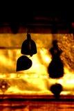 Силуэт колокола виска в Таиланде Стоковое Изображение RF