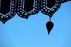 Силуэт колокола виска в Таиланде Стоковое Изображение