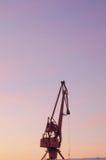 Силуэт крана башни Стоковые Изображения