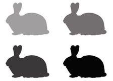 Силуэт кролика Стоковые Фото