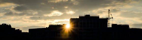 Силуэт крыши дом Стоковые Изображения RF