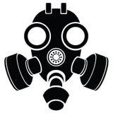 Силуэт маски противогаза Стоковое Изображение RF