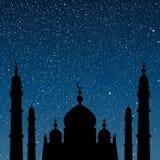 Силуэт мечети небо звёздное 10 eps Стоковое фото RF
