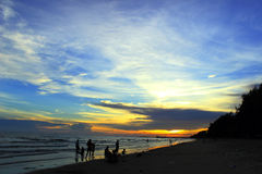 Силуэт моря стоковые фотографии rf