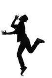 Силуэт мужского танцора Стоковые Изображения