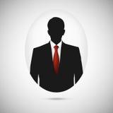 Силуэт мужск человека Красный цвет whith изображения профиля Стоковое фото RF