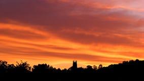 Силуэт нашей церков Стоковая Фотография RF