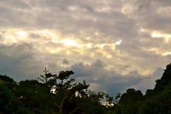 Силуэт неба Стоковое Изображение RF