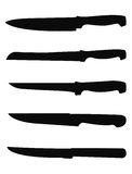 Силуэт ножей Стоковые Фотографии RF