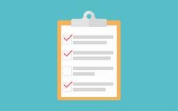Силуэт доски сзажимом для бумаги контрольного списока значка доски сзажимом для бумаги Простой значок круга Стоковое Фото