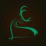 Силуэт оленей головной Стоковое Фото