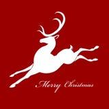 Силуэт оленей рождества Стоковые Изображения RF
