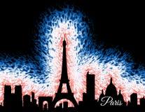 Силуэт Парижа Франции Стоковая Фотография