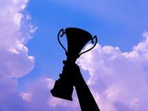 Силуэт победы стоковое фото