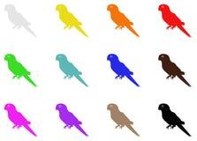 Силуэт попугая Стоковая Фотография RF