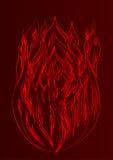 Силуэт предпосылки темноты огня Стоковые Фотографии RF