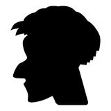 Силуэт профиля или камеи вектора человека Стоковое фото RF