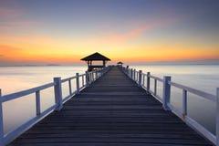 Силуэт пути на пляже Стоковые Фотографии RF