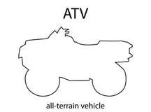 Силуэт плана ATV Стоковое фото RF