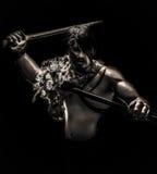 Силуэт ратника Стоковая Фотография RF