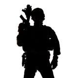 Силуэт ренджера армии Соединенных Штатов Стоковые Изображения