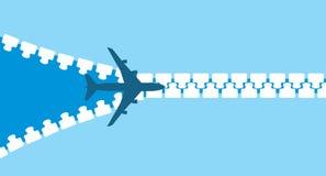 Силуэт самолета двигателя иллюстрация вектора