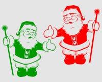 Силуэт Санта Клаус рождества Стоковые Изображения RF