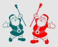 Силуэт Санта Клаус рождества Стоковое Изображение