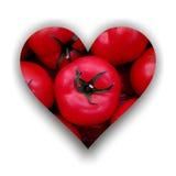 Силуэт сердца вполне томатов с стержнем иллюстрация штока