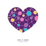 Силуэт сердца молекулярной структуры вектора Стоковое Изображение RF