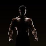 Силуэт сильного бойца Стоковые Фотографии RF