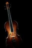 Силуэт скрипки изолированный на черноте Стоковое фото RF