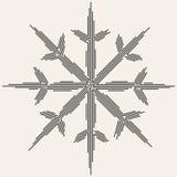 Силуэт снежинки вектора иллюстрация вектора