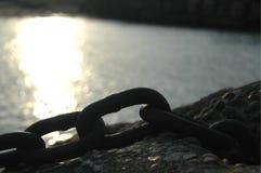 Силуэт старой цепи Стоковая Фотография RF