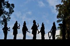 Силуэт статуи Стоковое Изображение RF