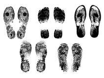 Силуэт следов ноги Стоковая Фотография