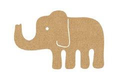 Силуэт слона бумаги Kraft Стоковые Фотографии RF