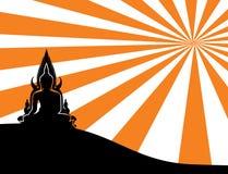 Силуэт тайского Будды Стоковые Фотографии RF