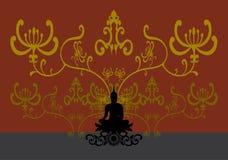 Силуэт тайского Будды Стоковое Изображение RF
