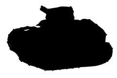 Силуэт танка Стоковое Изображение