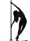 Силуэт танцора поляка женщины Стоковые Фото
