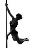 Силуэт танцора поляка женщины Стоковая Фотография RF