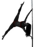 Силуэт танцора поляка женщины Стоковое Фото