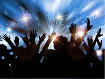 Силуэт толпы партии Стоковые Изображения