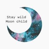 Силуэт луны акварели бесплатная иллюстрация