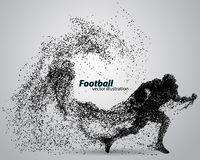Силуэт футболиста от частицы рэгби американский футболист Стоковое Изображение RF