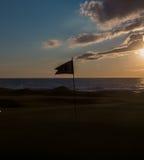 Силуэт флага гольфа Стоковая Фотография