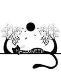 Силуэт хеллоуина Стоковые Изображения