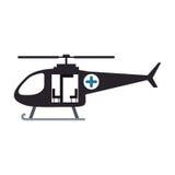 Силуэт цвета с вертолетом спасения Стоковое Изображение